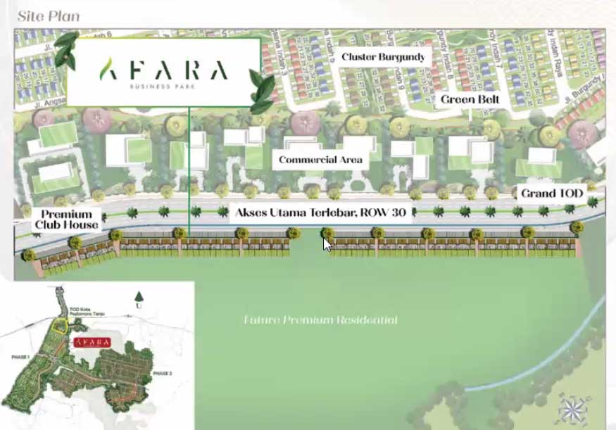 site-plan-ruko-Afara